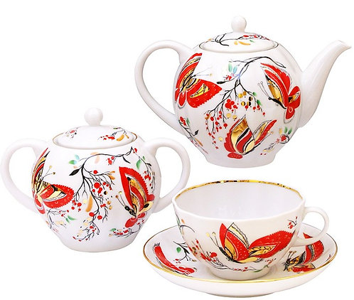 Butterfly 8 pcs Tea Set for 2 persons
