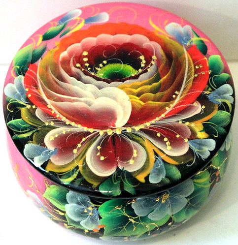 Lacquer Hand-Painted Box