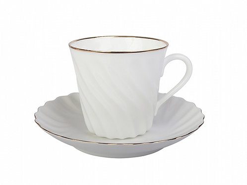 Golden Edge Coffee cup w/ Saucer