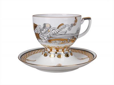 TEA SET CUP AND SAUCER ANDANTE RUSSIAN MODERN
