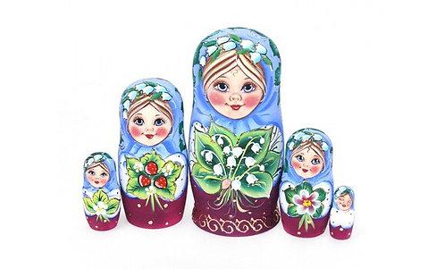 Matryoshka Masha& Lilies of the Valley