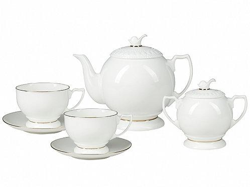 Pearl Bone China Tea Set for 5 person 12pcs