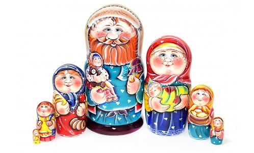 Matryoshka Family /7 dolls/ 21cm