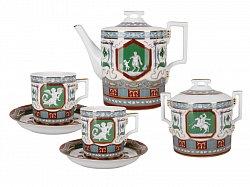 Tea Set Heraldic Antique 6person/14pcs