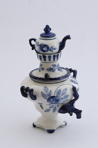 Samovar Decor. Blue&White Porcelain. Gzhel.