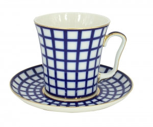 PORCELAIN MUG AND SAUCER LENINGRADSKII COBALT CELL