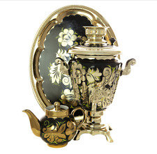 Rooster Electric Samovar Set with Tray & Teapot