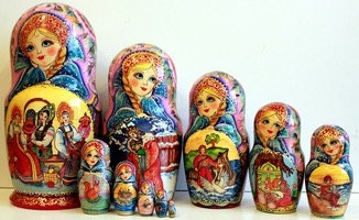 Matryoshka Three Girls