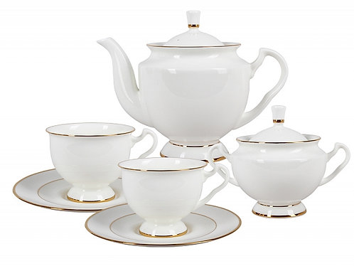 Tea set 6person\14pcs Isadora Golden Ribbon