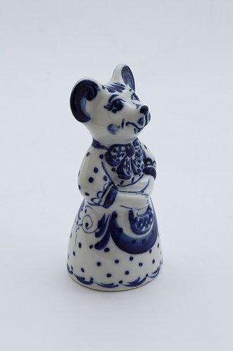 Anfiska Figurine. Blue&White Porcelain. Gzhel.
