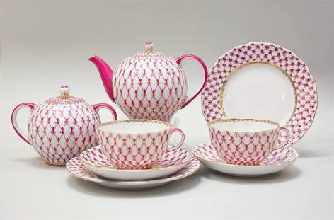 Pink Net Set for Two (8pcs)