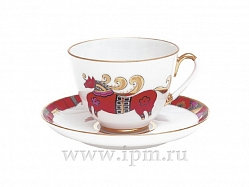 Cup&Saucer Red Horse