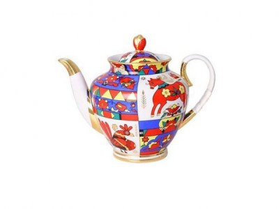 Folk Patterns Brewing Teapot
