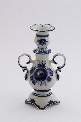 Candlestick. Blue&White Porcelain. Gzhel.