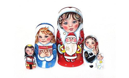 Matryoshka X-mad Kids / 5 dolls/ 14cm