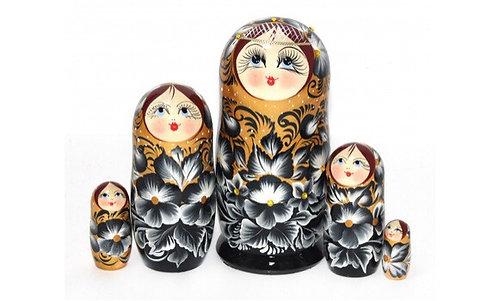 Matryoshka Samozvety/ Gold