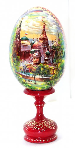 Hand painted Egg on Stand