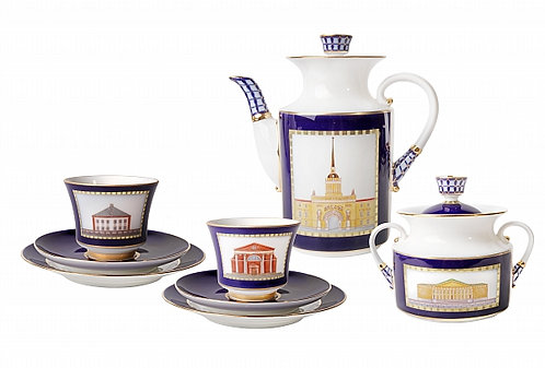 The Classics of Saint Petersburg 20-Piece Coffee Set for 6 Persons