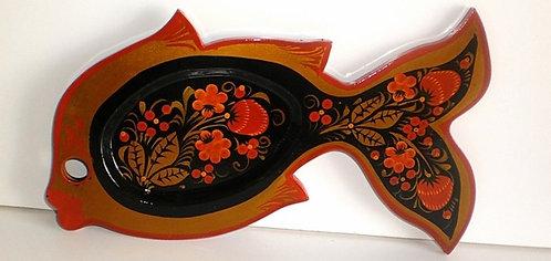 Khokhloma Decor Fish Plate