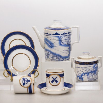 The Wardroom 20-Piece Porcelain Tea Set for 6 Persons