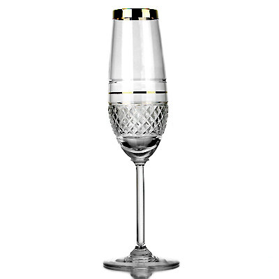 Crystal Flute Glasses Set of of 6