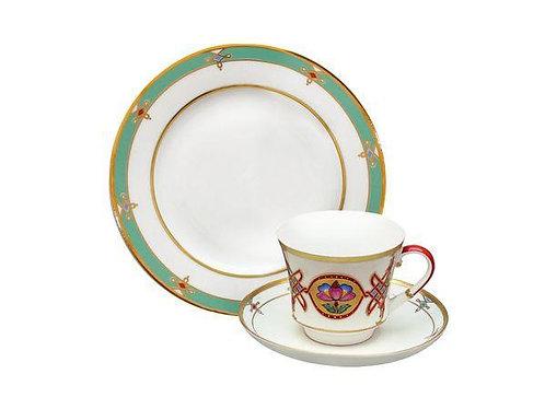 "Tea Set 3pcs Cup&Saucer&Plate ""Banquet  Vizantium"""