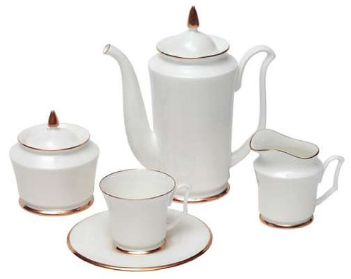 Coffee Set Julia Golden Ribbon 6person/15pcs