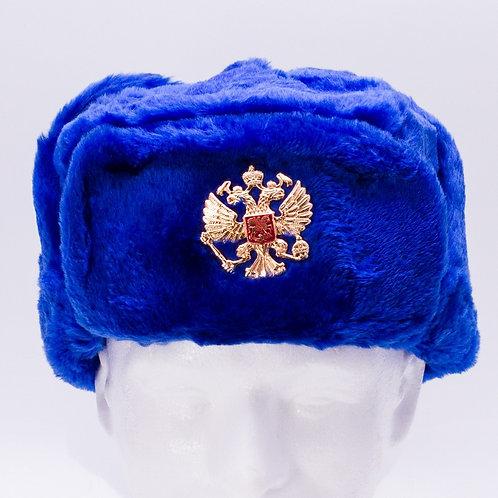 Blue Ushanka Hat with Ear Flaps