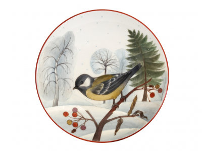 Decorative Wall Plate Blue Tit