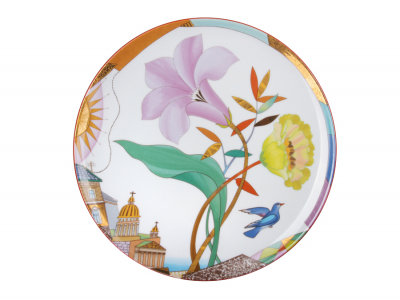 Decorative Wall Plate Lilac Evening