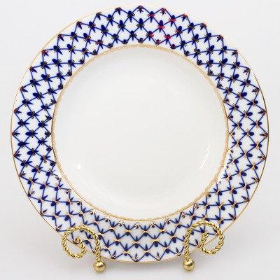 Cobalt Net Dinner Plate (flat/wave)