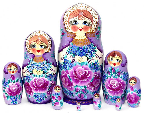 Matryoshka Flowers Purple