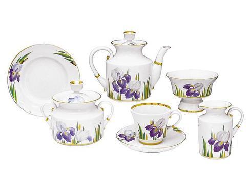 Tea Set Banquet Irises 2 persons/ 8 pcs