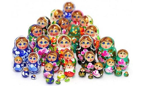 Matryoshka Lena Mini 5 dolls