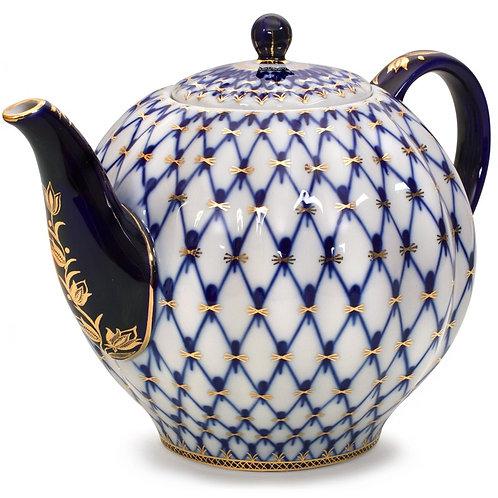 Cobalt Net porcelain Teapot (2 L)