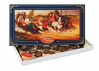 "Gift Box of Chocolate ""Russian Horses"""