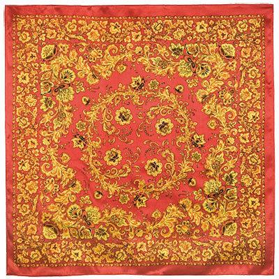 Patterns of Khokhloma Pavlovo Posad  Silk Shawl