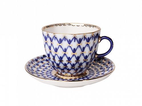 Tulip Cobalt Net Coffee cup w/ Saucer