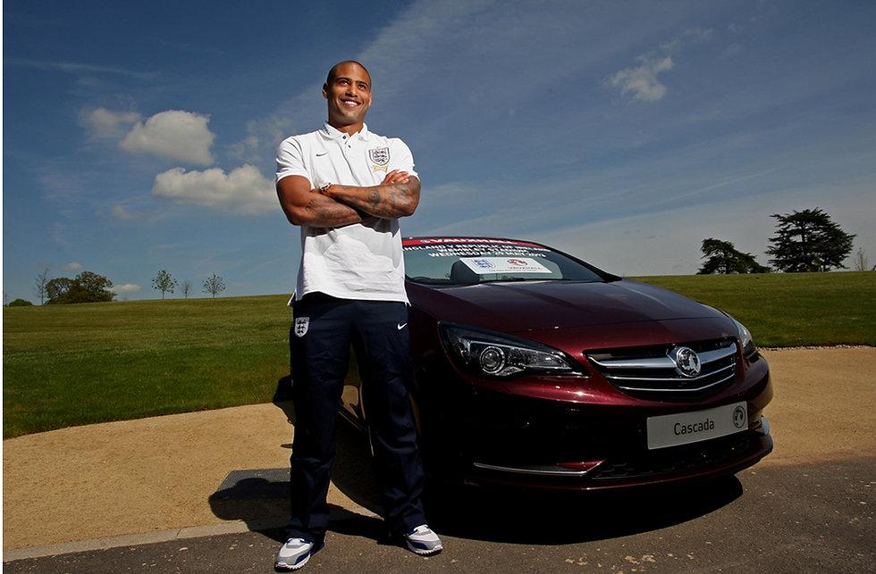 England Internation Glenn Johnson for Vauxhall