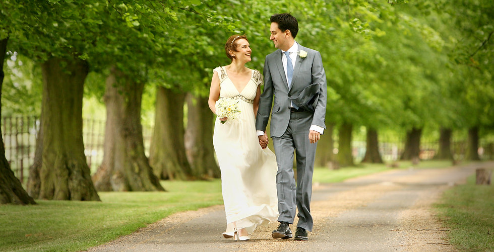 Ed Milliband on his wedding day at Langar Hall