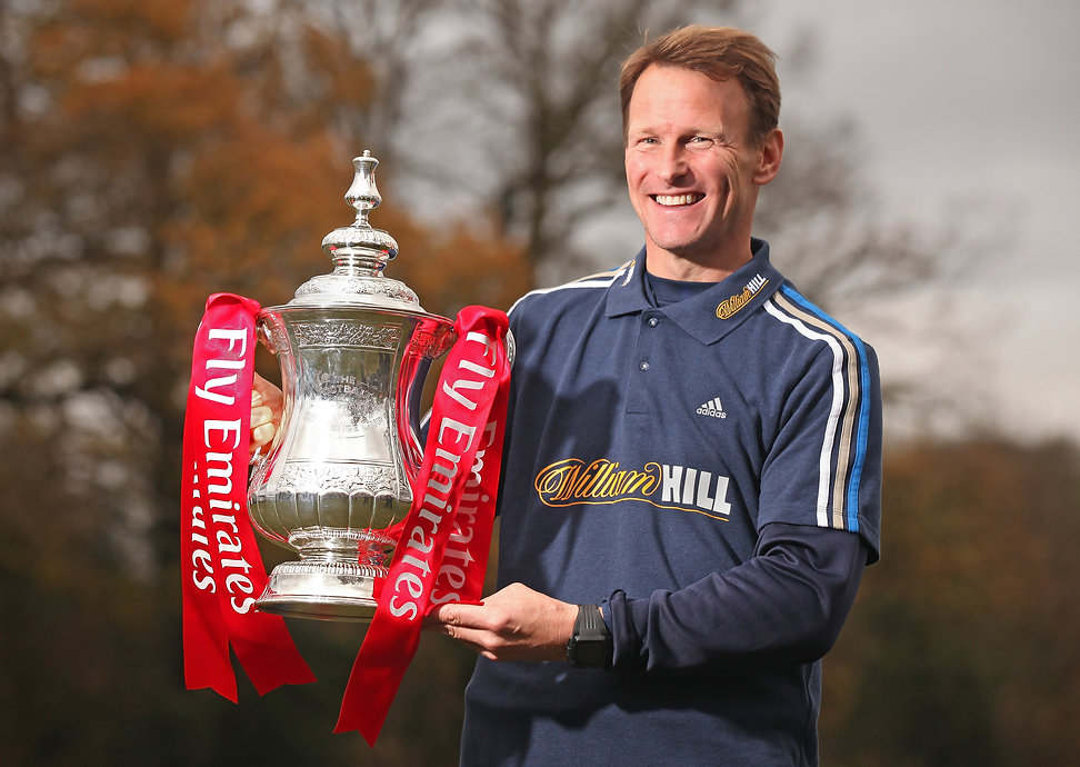 Teddy Sheringham with the FA Cup