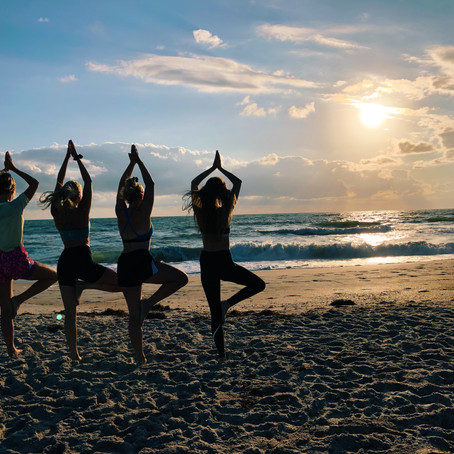 "I led my first TRiP!!! ""Surf and Yoga St. Augustine"""