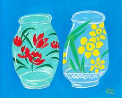 お花のコップ