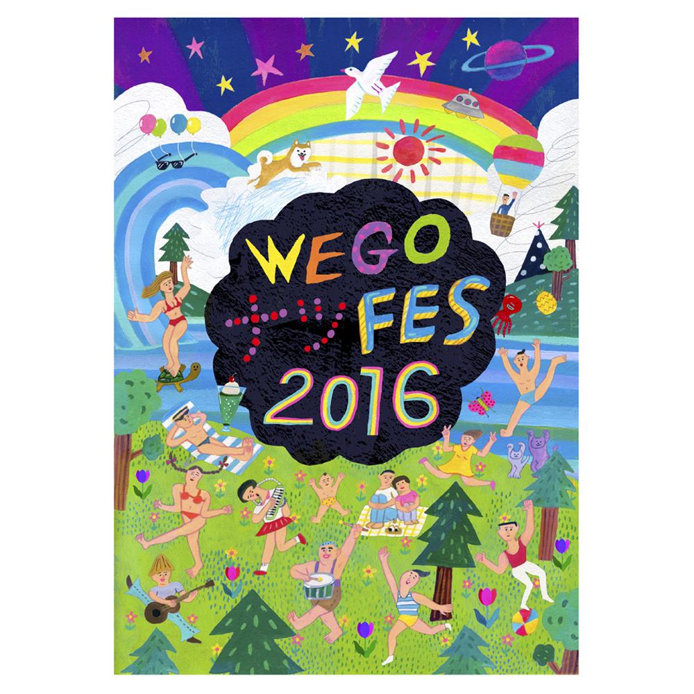 2016「WEGOナツFES2016」広告イラスト