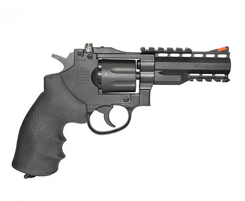 """Revólver de Pressão CO2 4"""" Gamo GR-Stricker 8 tiros 4,5mm"""