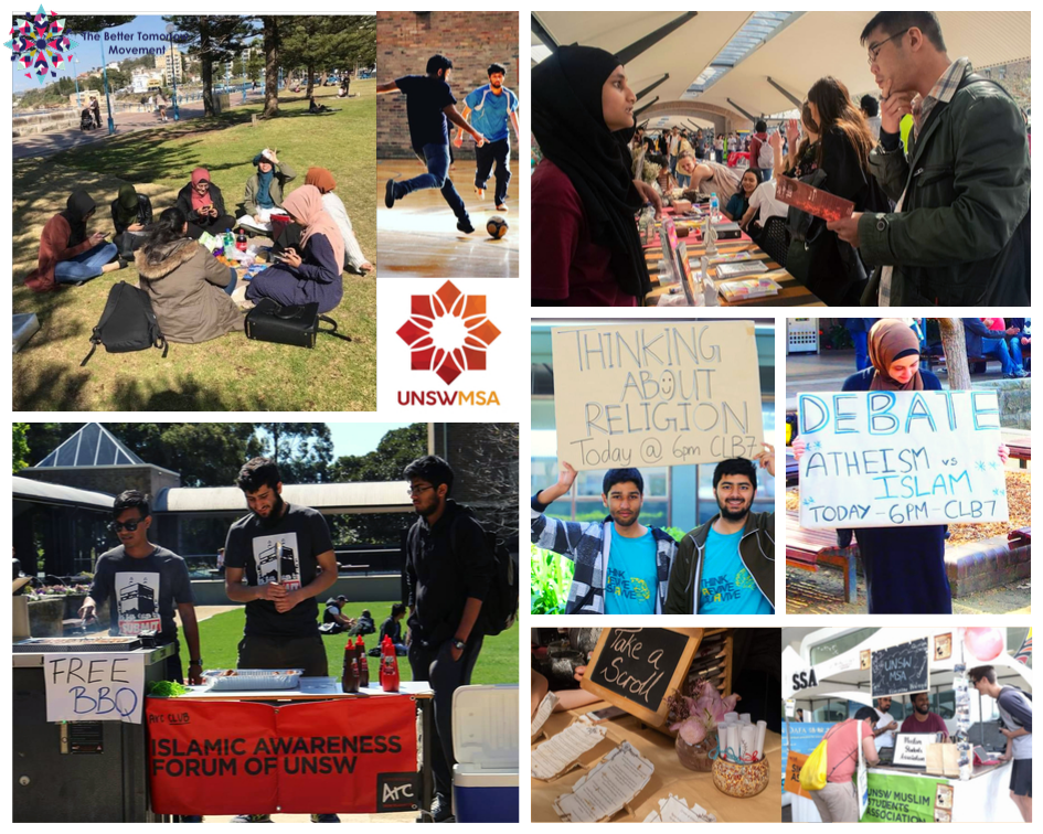 Activities and events organised by UNSWMSA. All images taken from UNWMSA official Facebook page.