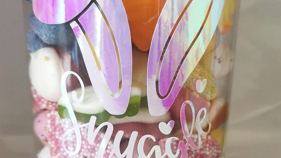 Personalised sweet filled jars