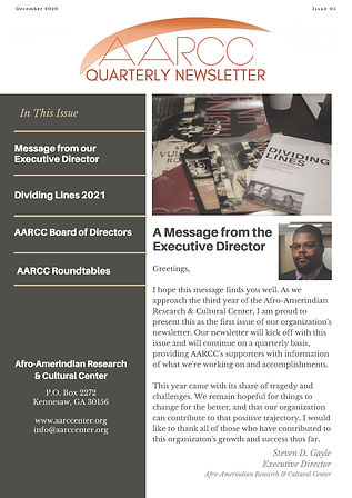 AARCC Newsletter Dec 2020