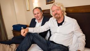 Avec Richard Branson pour Paris Match