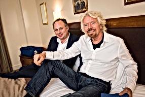 Bertil Scali et Richard Branson © Philip